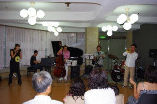 真夏の夜のjazz in Shirahama